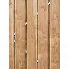 Bergen-deur op stalen frame 190x100cm Geïmpregneerd