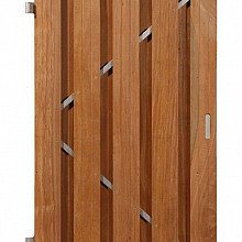 Hardhouten deur verticaal op 180x100cm