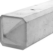Betonnen 3-sponningspaal punt  275x10x10cm Wit