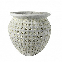 Globe pot bianco 38x34cm