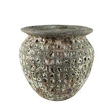 Globe pot earth 55x53cm