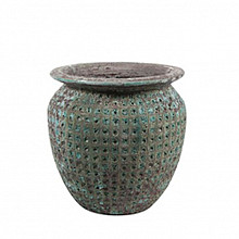 Globe pot ocean 38x34cm