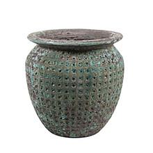 Globe pot ocean 55x53cm